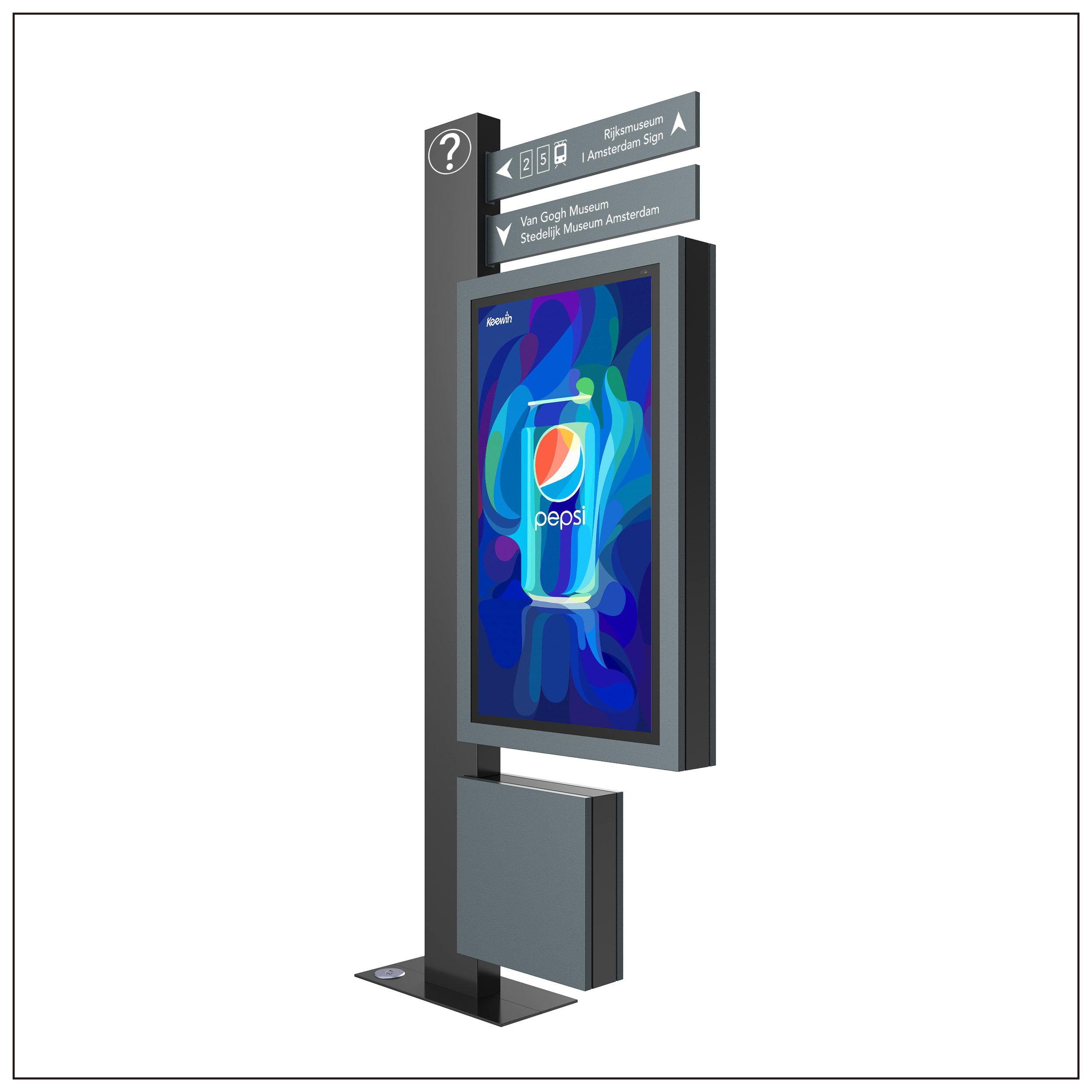 Wayfinding LCD Kiosk- Fully Enclosed System