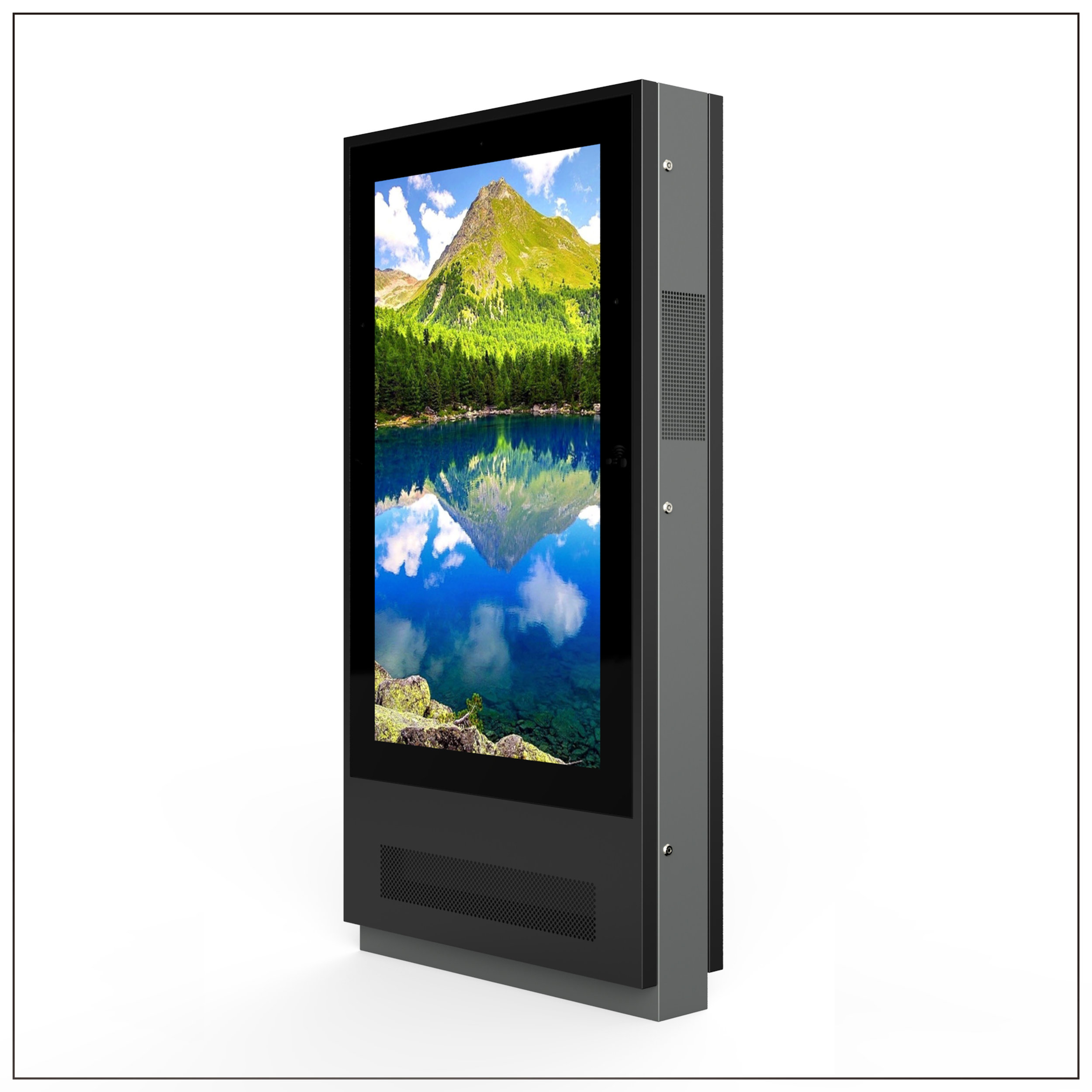 Outdoor High Brightness Dual Side LCD Displays - Panel Size: 65 inchBrightness : 3000 nitResolution: 1920 × 1080