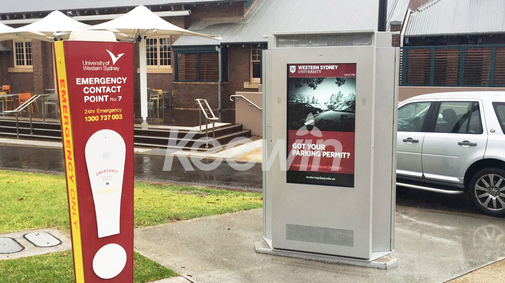 65 inch 3-sided Outdoor LCD Display-10 Points Touch   Western Sydney University