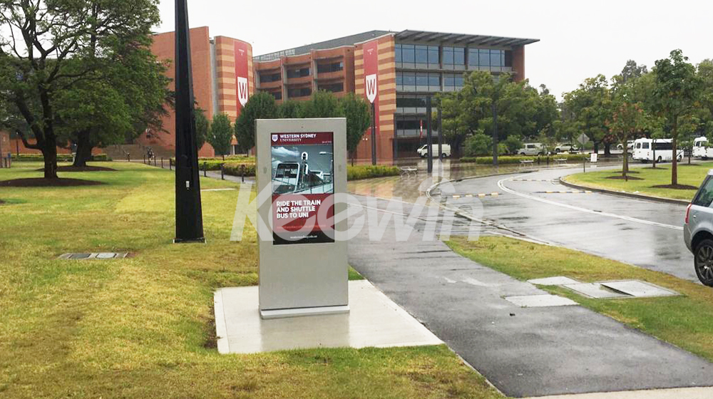 65 inch 2-sided Outdoor LCD Display - 10 Points Touch   Western Sydney University