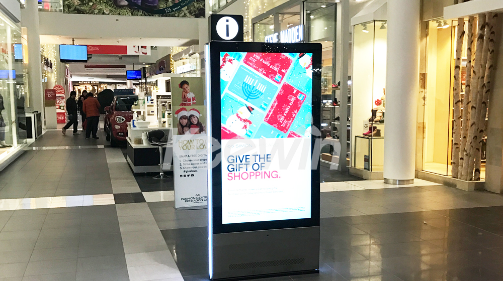 65 inch 2-sided Indoor LCD Display-10 Points Nano Touch   Fashion Centre at Pentagon City