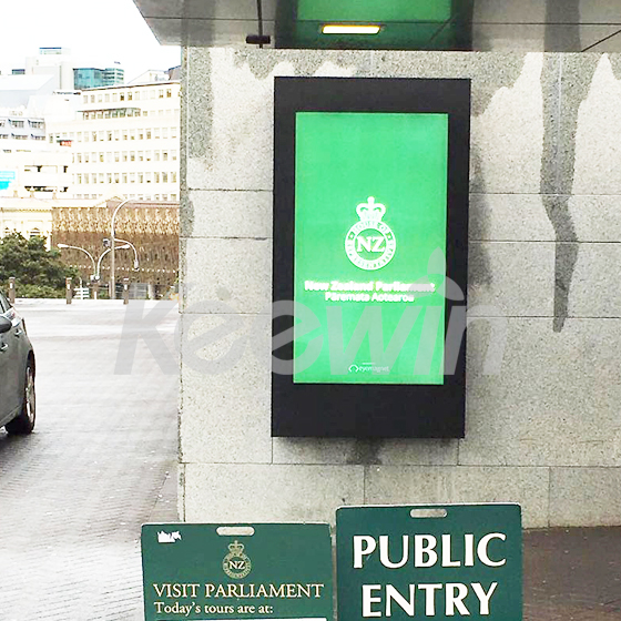 65 inch Outdoor High Brightness LCD Displays-5000nits   New Zealand - Parliament