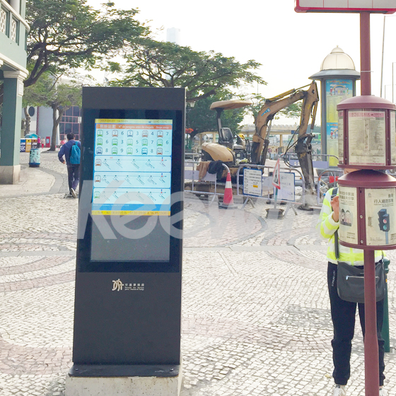 43 inch Outdoor High Brightness LCD Displays-2500 nits  Macao Bus Shelter