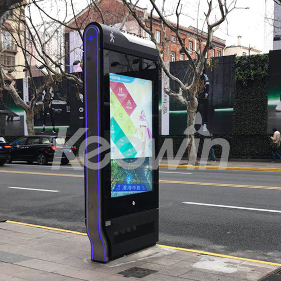 65 inch Outdoor High Brightness LCD Displays - 10 Points Nano Touch Screen, 2500 nits Brightness, Double Sided   Shanghai China
