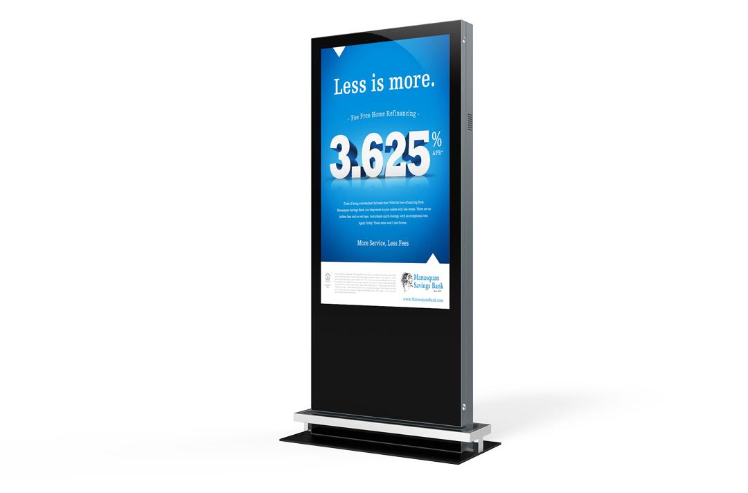Keewin display indoor floor standing digital signage LCD Kiosk-single sided.jpg
