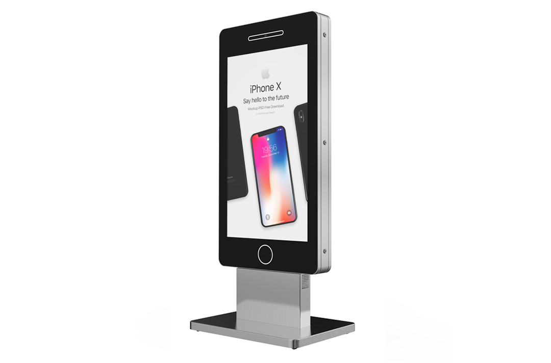 Keewin display indoor floor standing digital signage LCD Kiosk-55 inch-touch screen.jpg