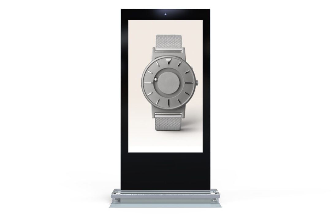 Keewin display indoor floor standing digital signage LCD Kiosk-65 inch-double sided screen-touch screen.jpg