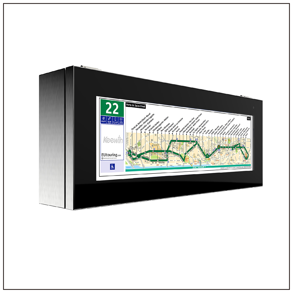 Stretched Single Side High Brightness LCD Signage - Panel Size: 37 inchBrightness: 1500 / 3000 nitResolution: 1920 × 540