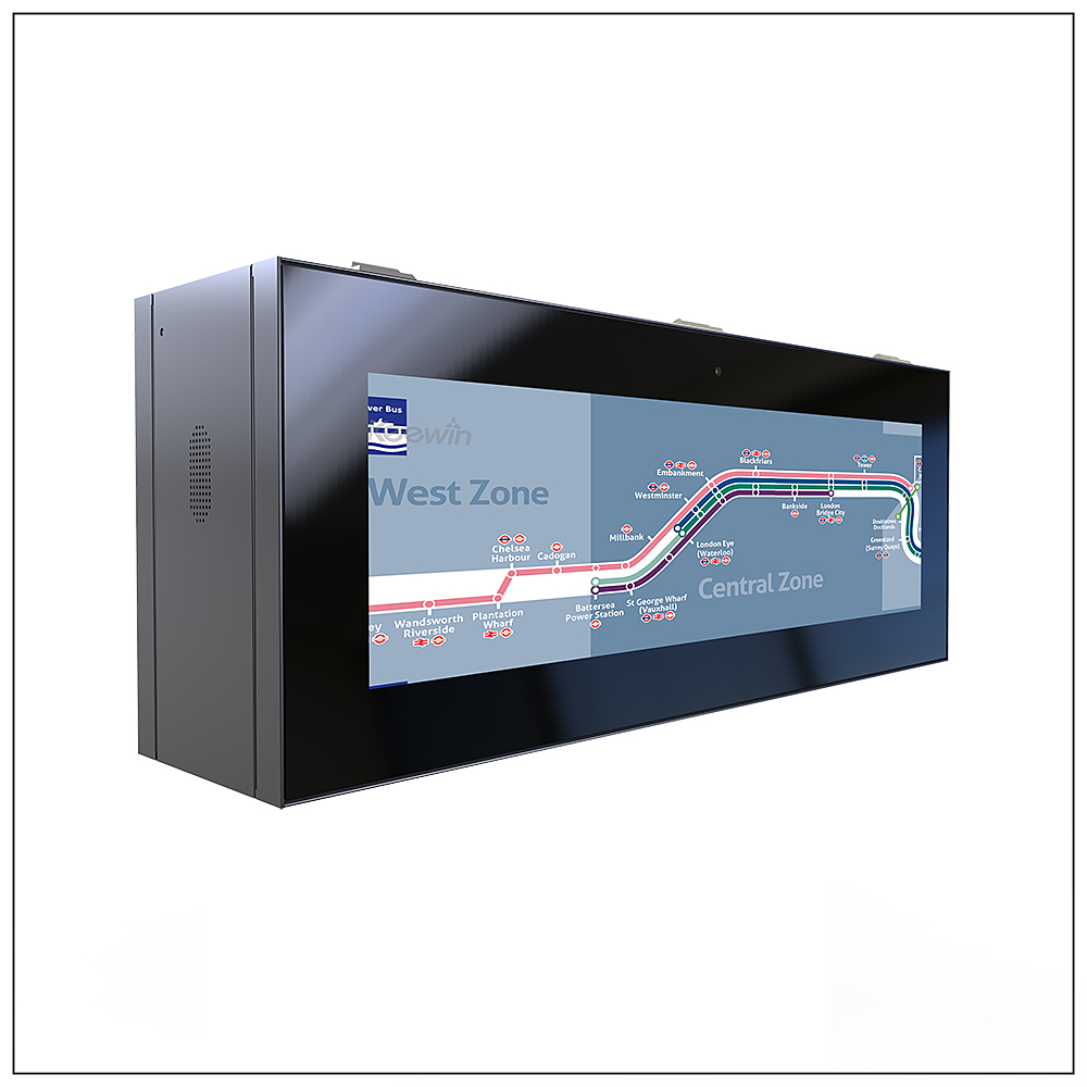 Stretched Dual Side High Brightness LCD Signage - Panel Size: 37 inchBrightness: 1500 / 3000 nitResolution: 1920 × 540