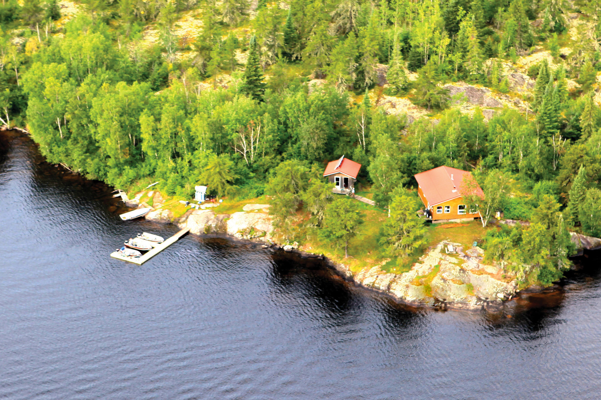 MODERN OUTPOSTS    Our outposts are located on exclusive lakes within 20 miles of our lodge.  The have great walleye and northern pike fishing plus modern, solar-powered cabins, quality equipment and can sleep 8 guests comfortably.   Learn about the outposts →