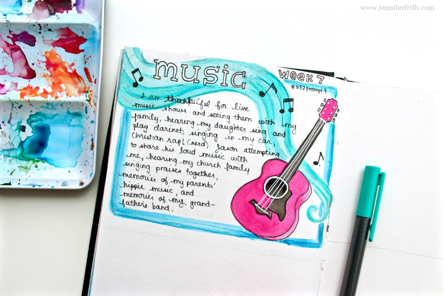 jennifer frith - gratitude journal illustration