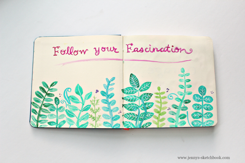 follow your fascination sketchbook