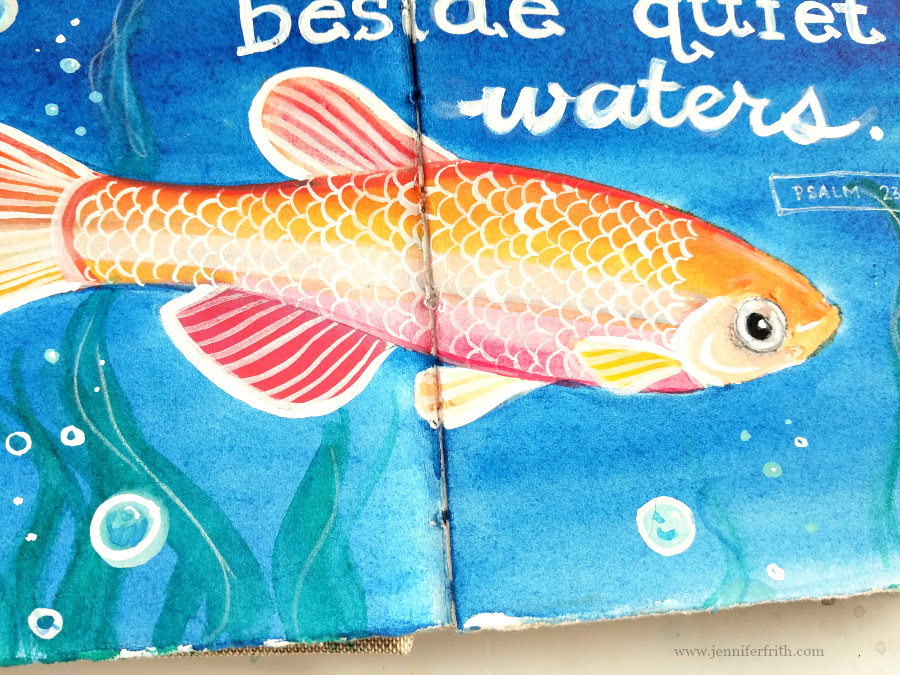 Watercolor Journal Pages by Jennifer Frith