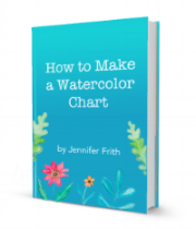 "Get a copy of Jennifer Frith's ebook, ""How to Make a Watercolor Chart"""