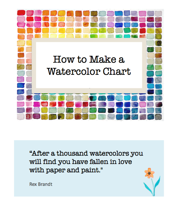 Free eBook:  How to Make a Watercolor Chart