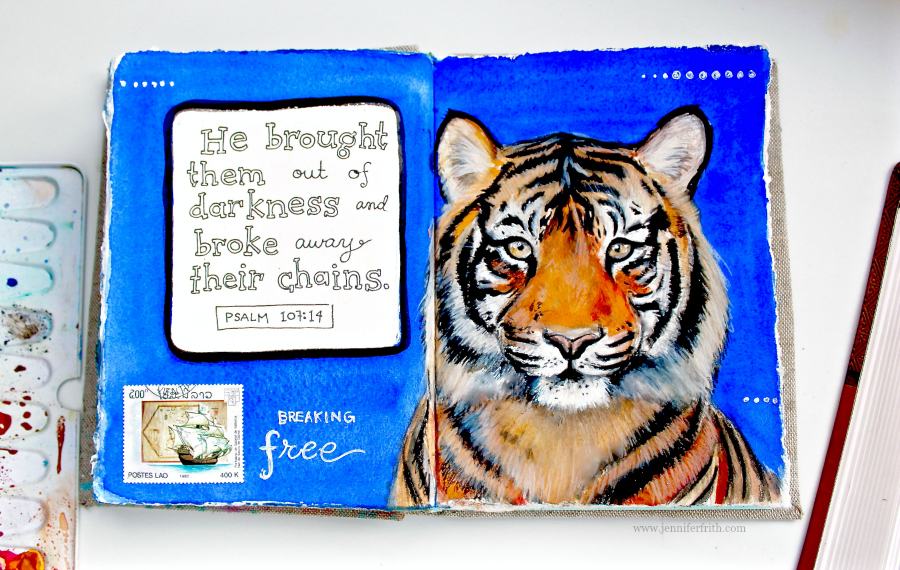 Sunday Sketchbook page in watercolor by Jennifer Frith
