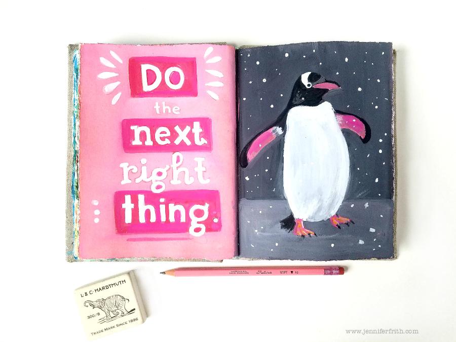 Jennifer Frith's Sunday Sketchbook - Petey the Penguin