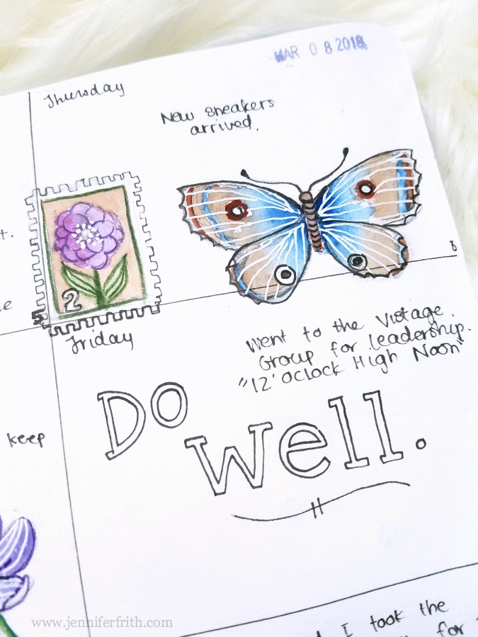 Sketchbook Journal art by Jennifer Frith