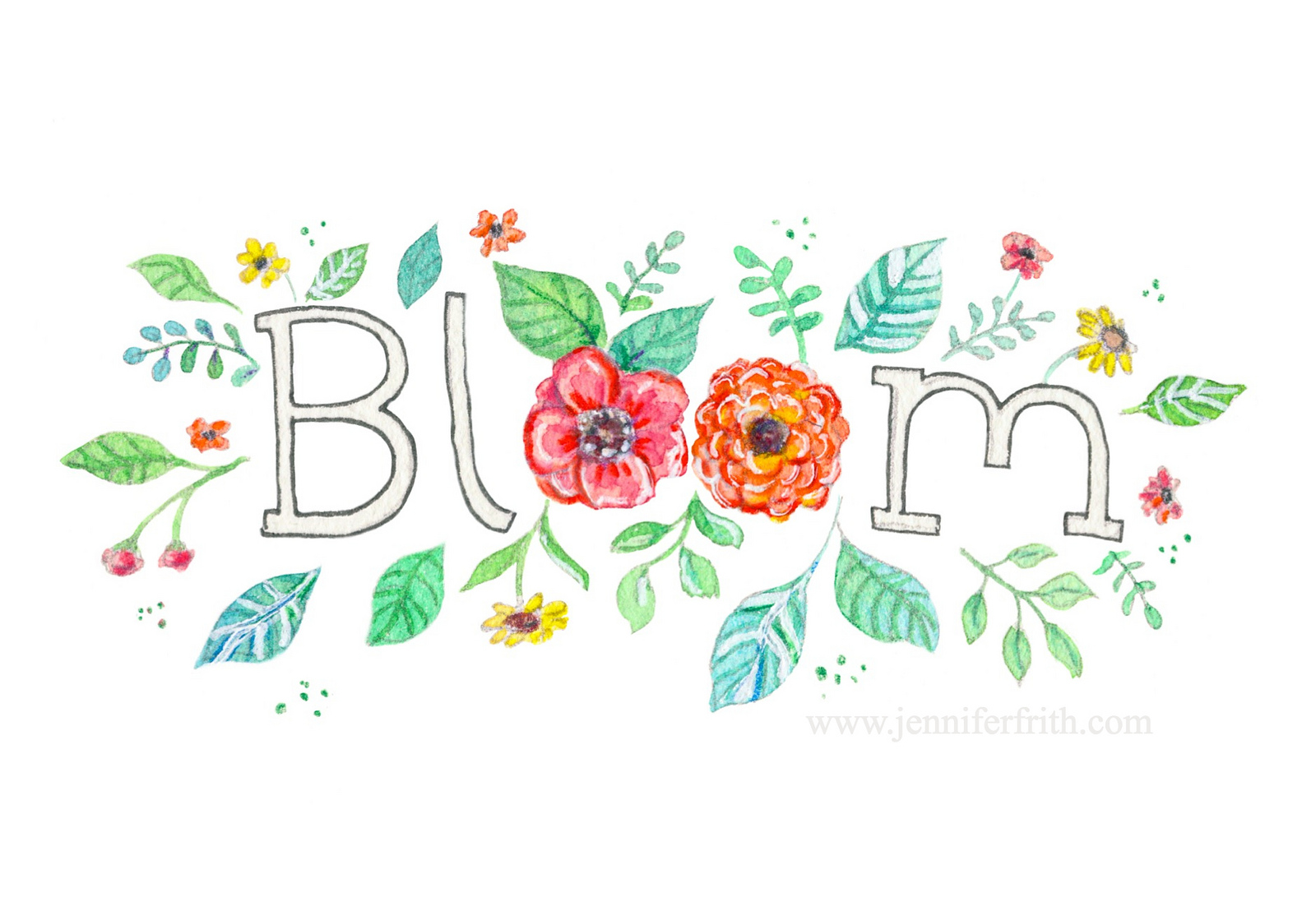 Jennifer Frith - Illustrator - Bloom - My One Word