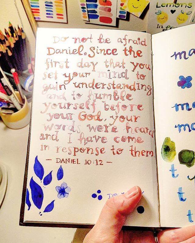 Found some old sketchbook pages.  #encouragement #keepyourheadup