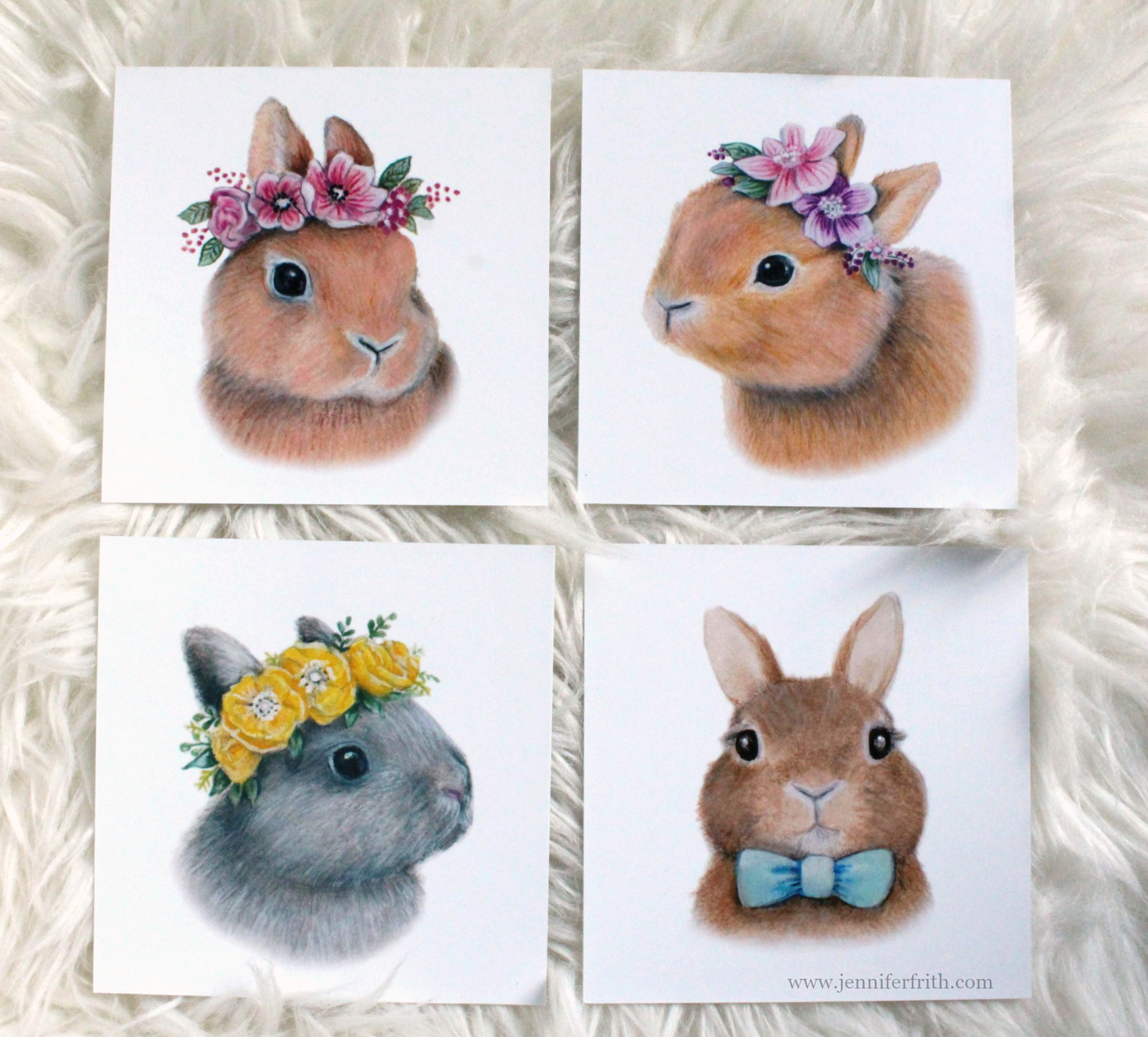 Bunny Illustrations for Sale by Jennifer Frith