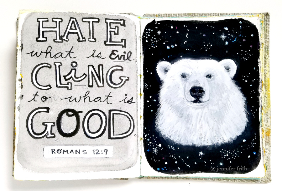 Sunday Sketchbook (Polar Bear) by Jennifer Frith