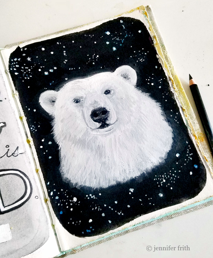 Polar Bear in Jennifer Frith's Sunday Sketchbook