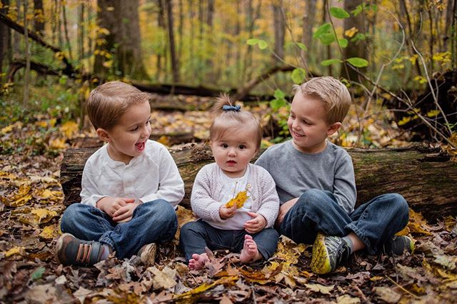 A sweet little girl and her big brothers.