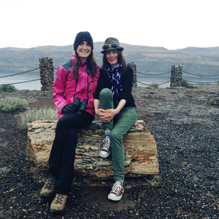 Emily and I at Ginkgo Petrified Forest State Park, at the end of our birding day.