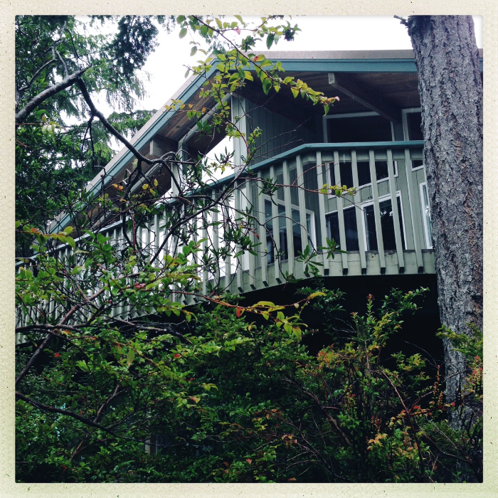 The Bough house , where we stayed.