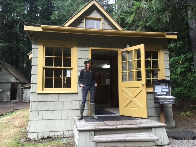 At the ranger station, trail head of Staircase at Olympic National park, along the Skokomish river.