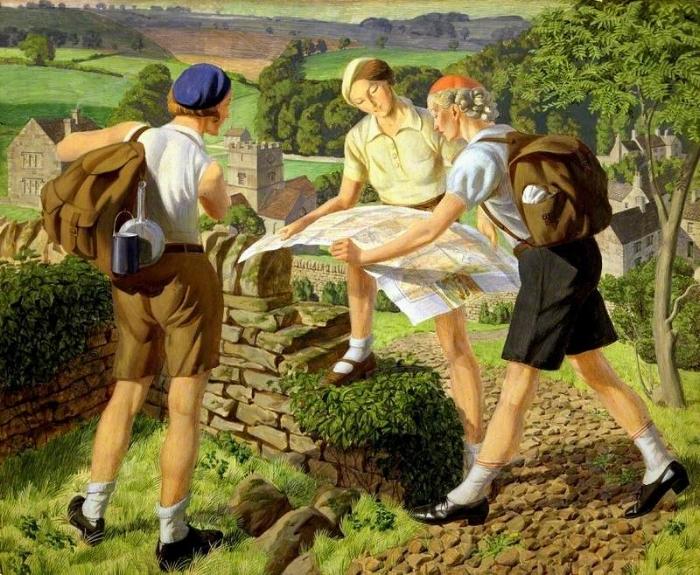 Hiking, by James Walker Tucker. Image: Laing Art Gallery (UK).