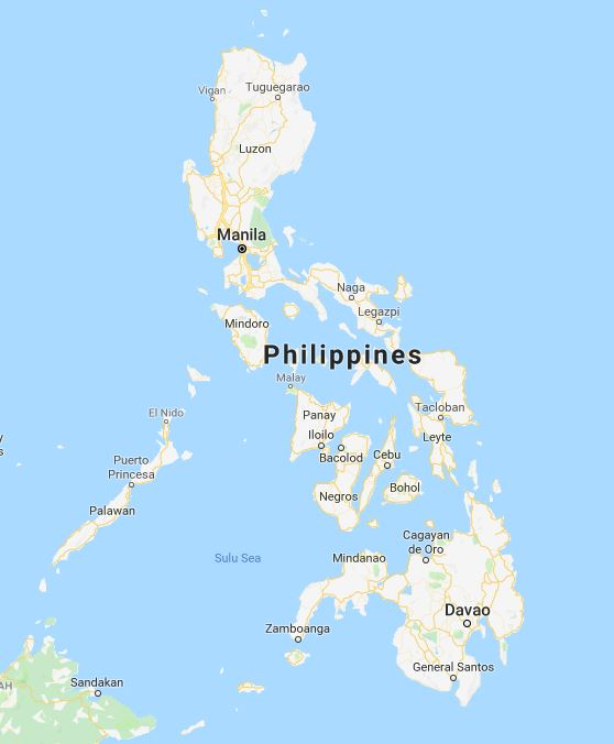 The Philippines, care of Google Maps.