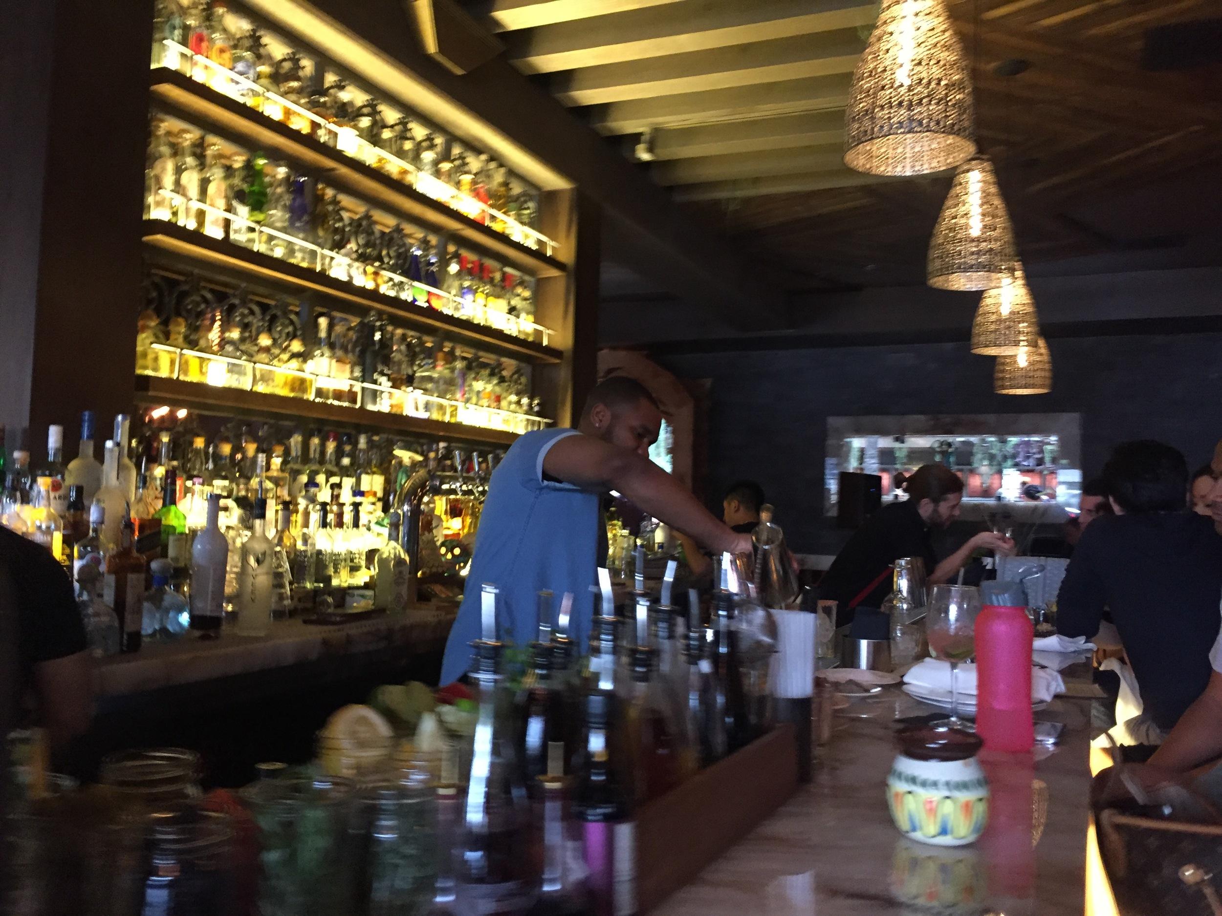 Rose Quartz bar at Toca Madera on thegildedbellini.com