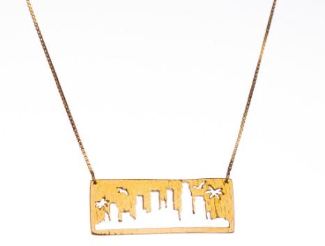 LA skyline pendant for City + Sky