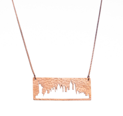 NYC City + Sky pendant on The Gilded Bellini
