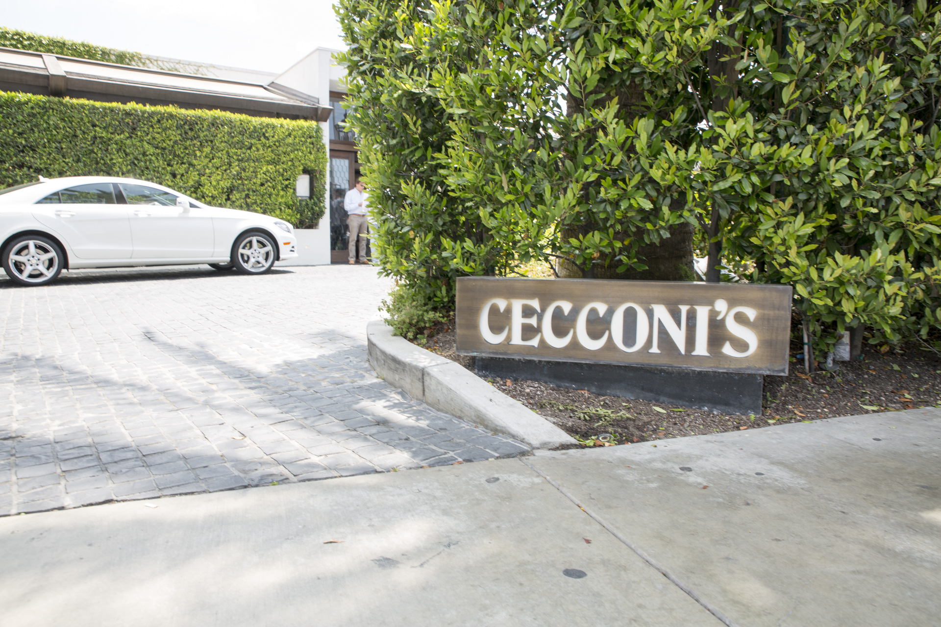 Outside Cecconi's West Hollywood