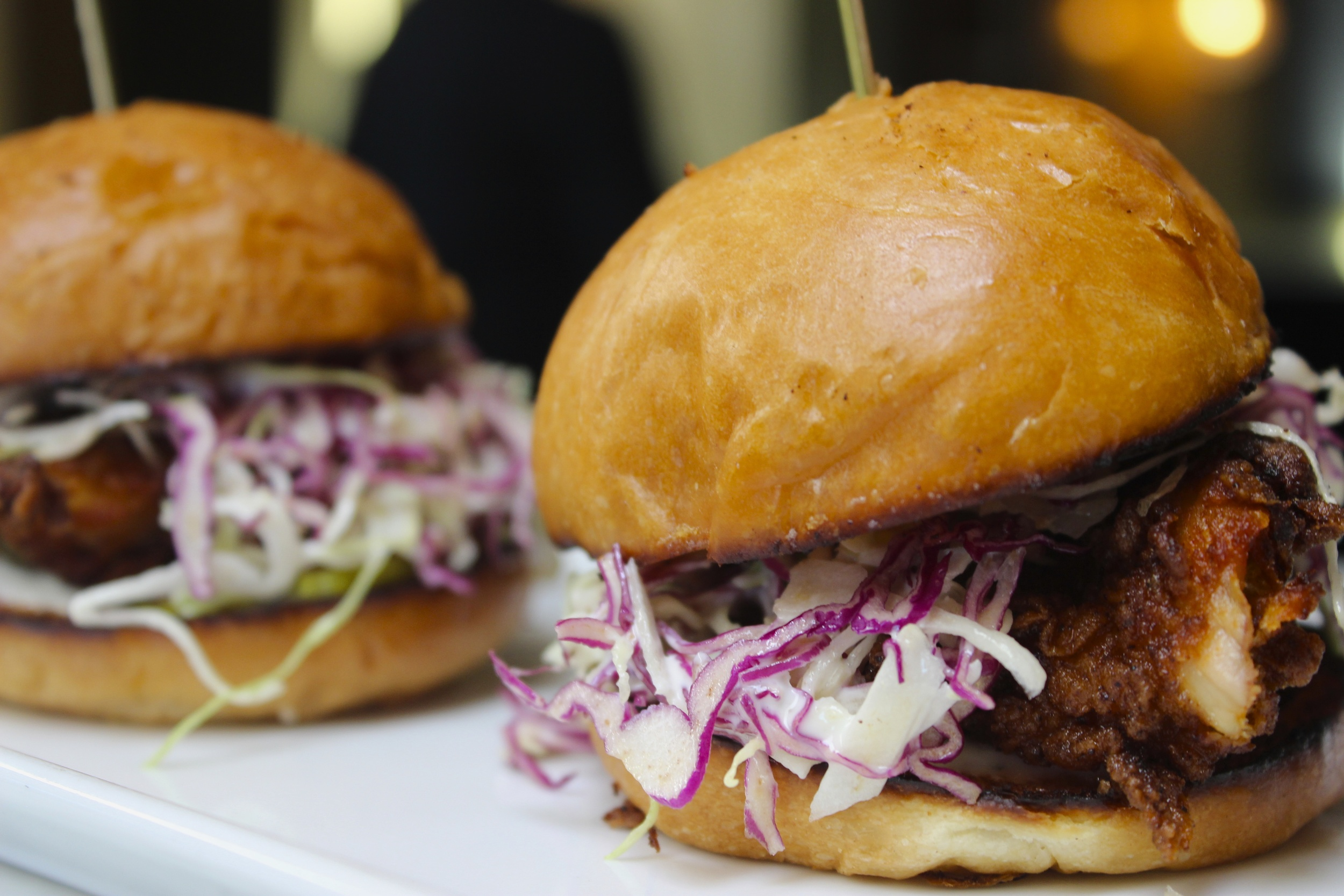 Crispy Fried Chicken Sliders from The Hudson West Hollywood on The Gilded Bellini