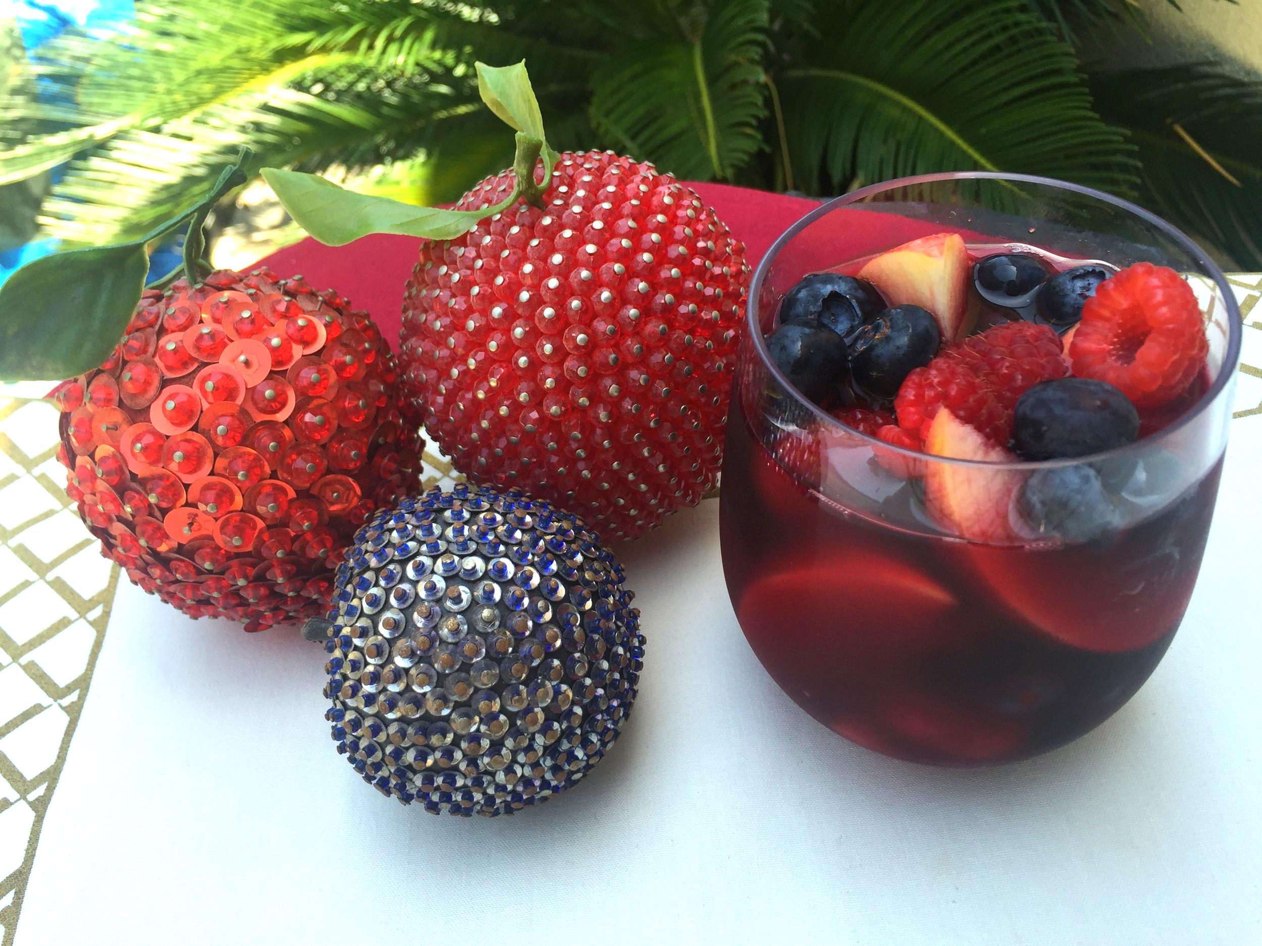 Red, White & Blue Sangria with Christina Milian's Viva Diva Wine