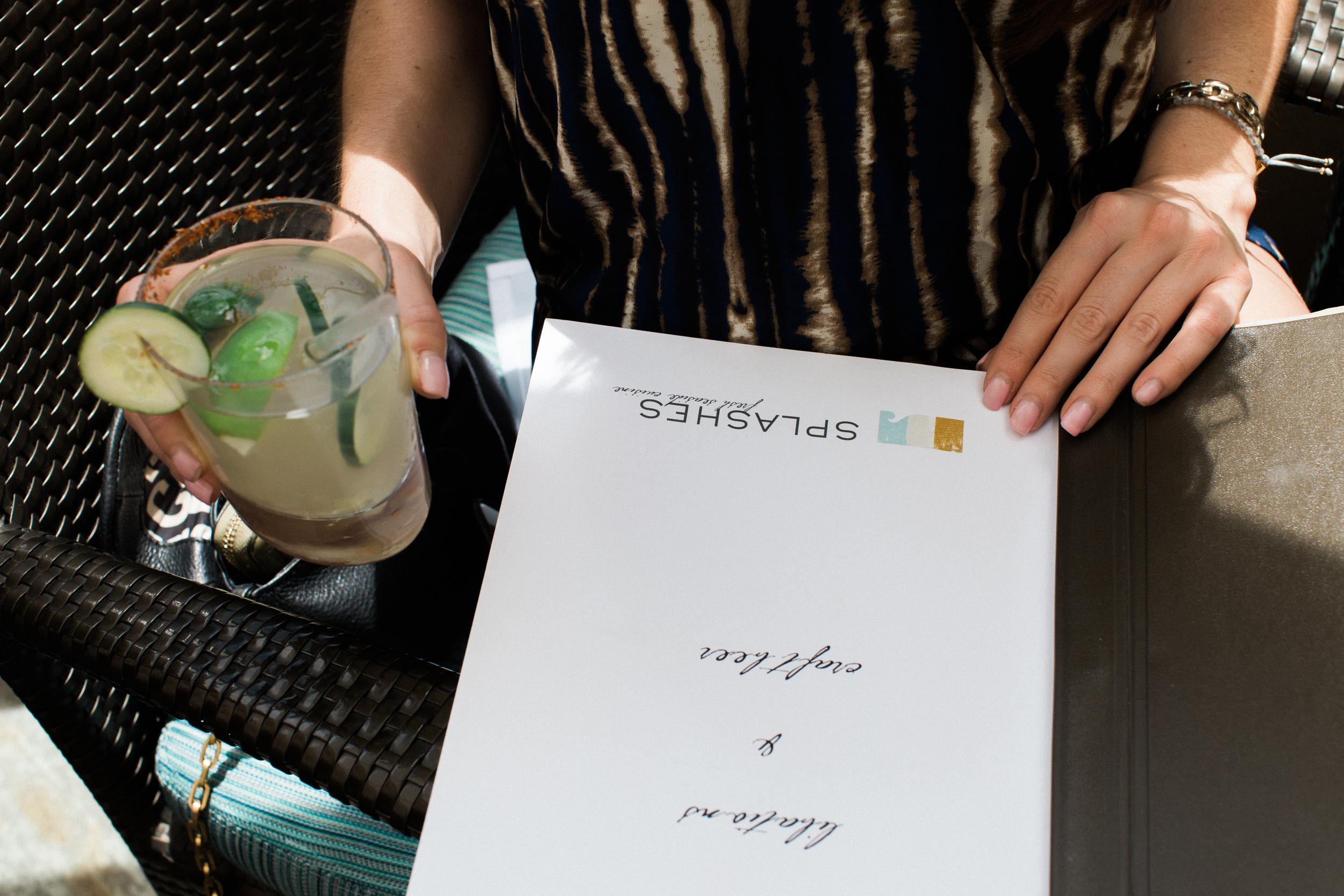 Cocktails at SPLASHES at Surf & Sand Hotel