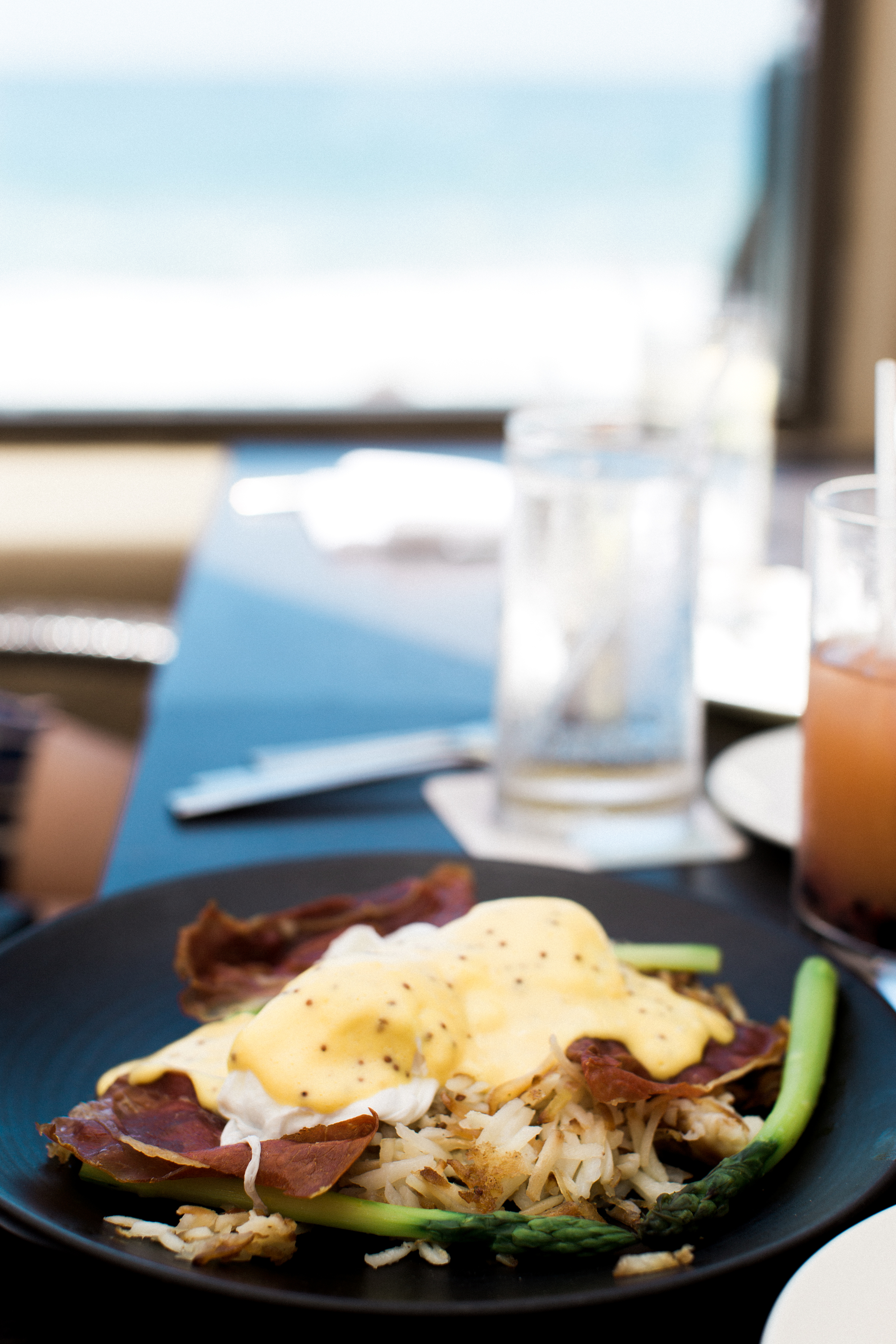 Breadless Benedict at Splashes at Surf & Sand Hotel