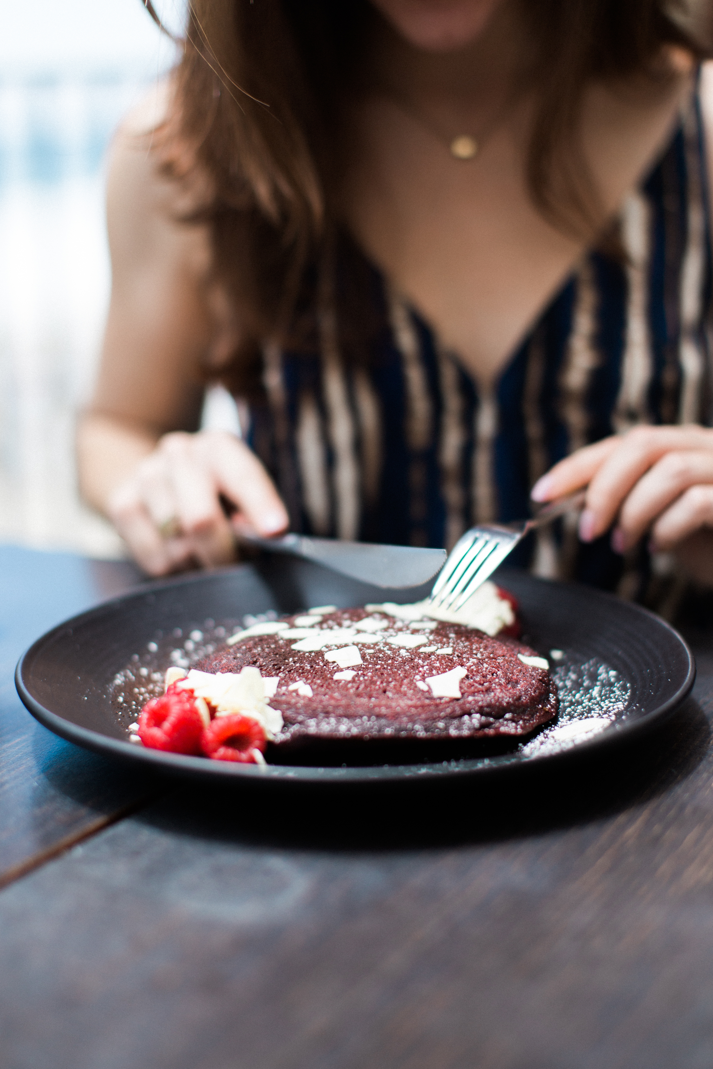 Red Velvet Pancakes at Splashes at Surf & Sand Hotel