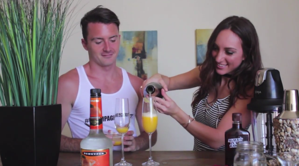 Kyle Langan and Brielle Galekovic - Summer Sips Series - The Gilded Bellini