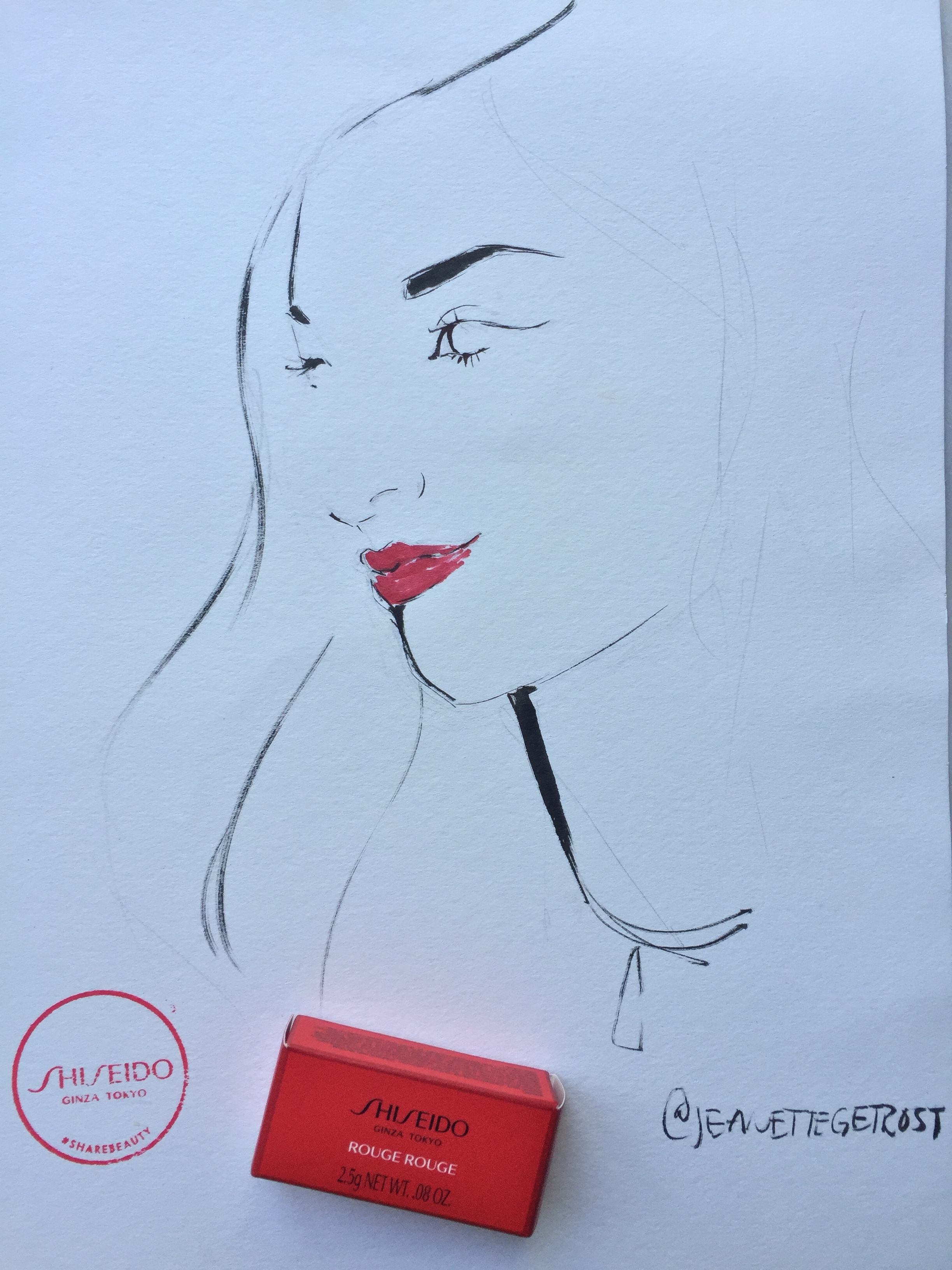 Illustration by Jeanette Getrost for Shiseido