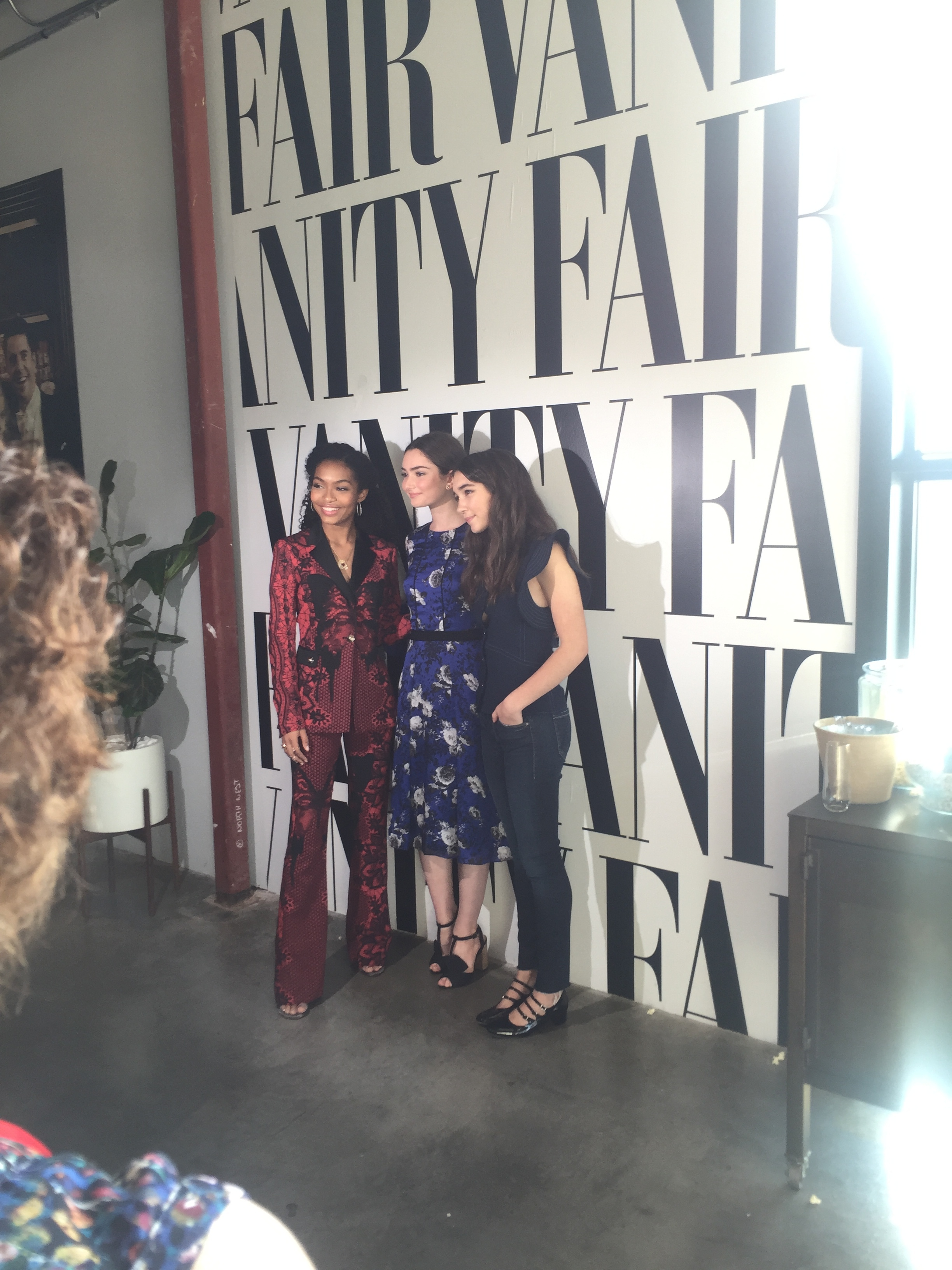 Emily Robinson, Yara Shahidi and Rowan Blanchard at Vanity Fair Social Club Emmy's Edition