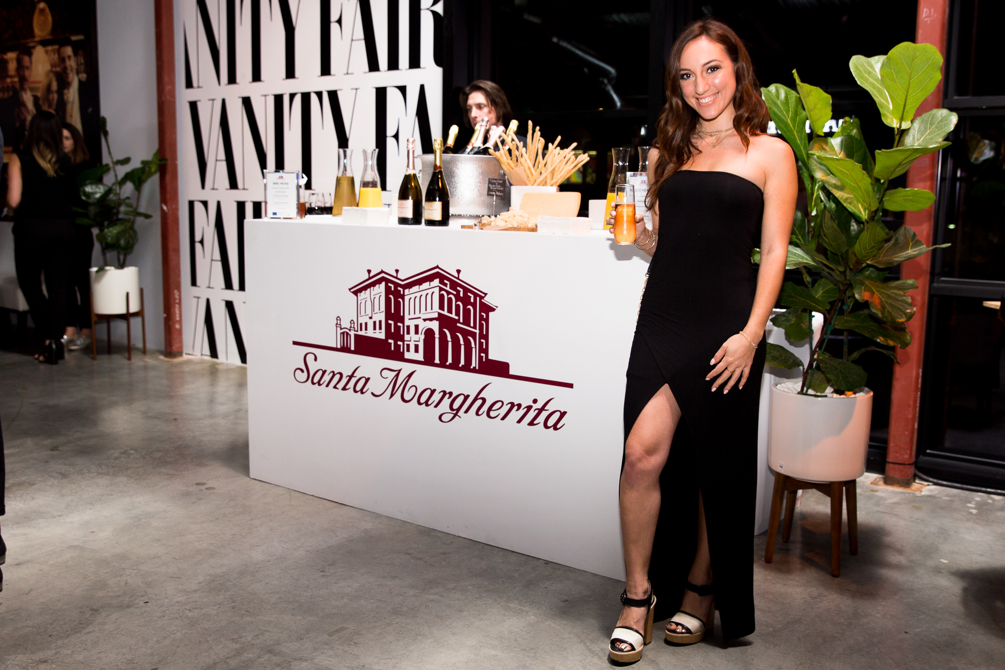 Brielle Galekovic of The Gilded Bellini with Santa Margherita Wines at Vanity Fair Social Club Emmy's Edition 2016