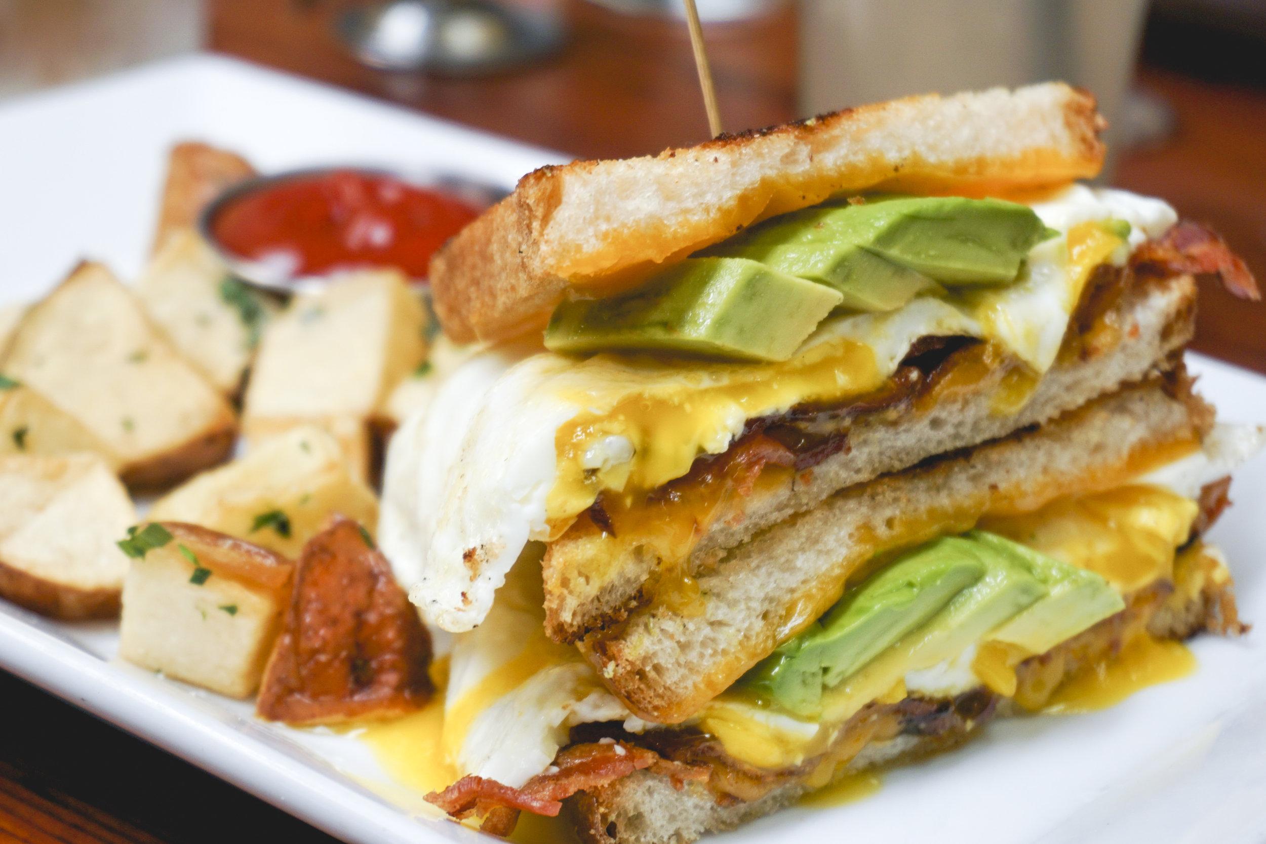 Breakfast sandwich at The Hudson LA