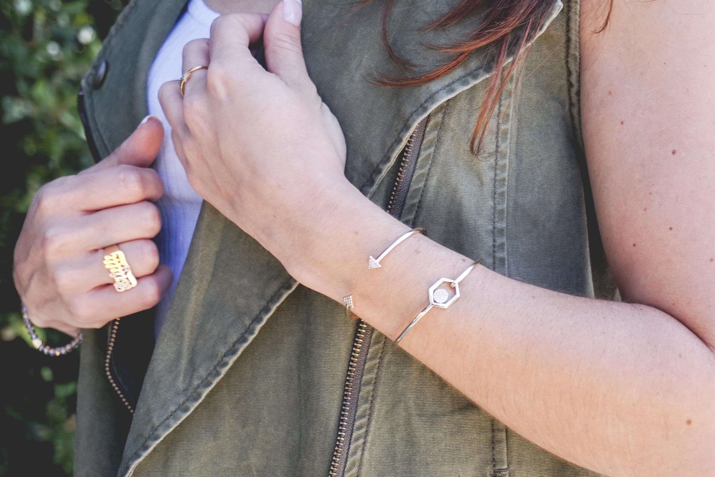 Riccova Cuff Bracelet on The Gilded Bellini