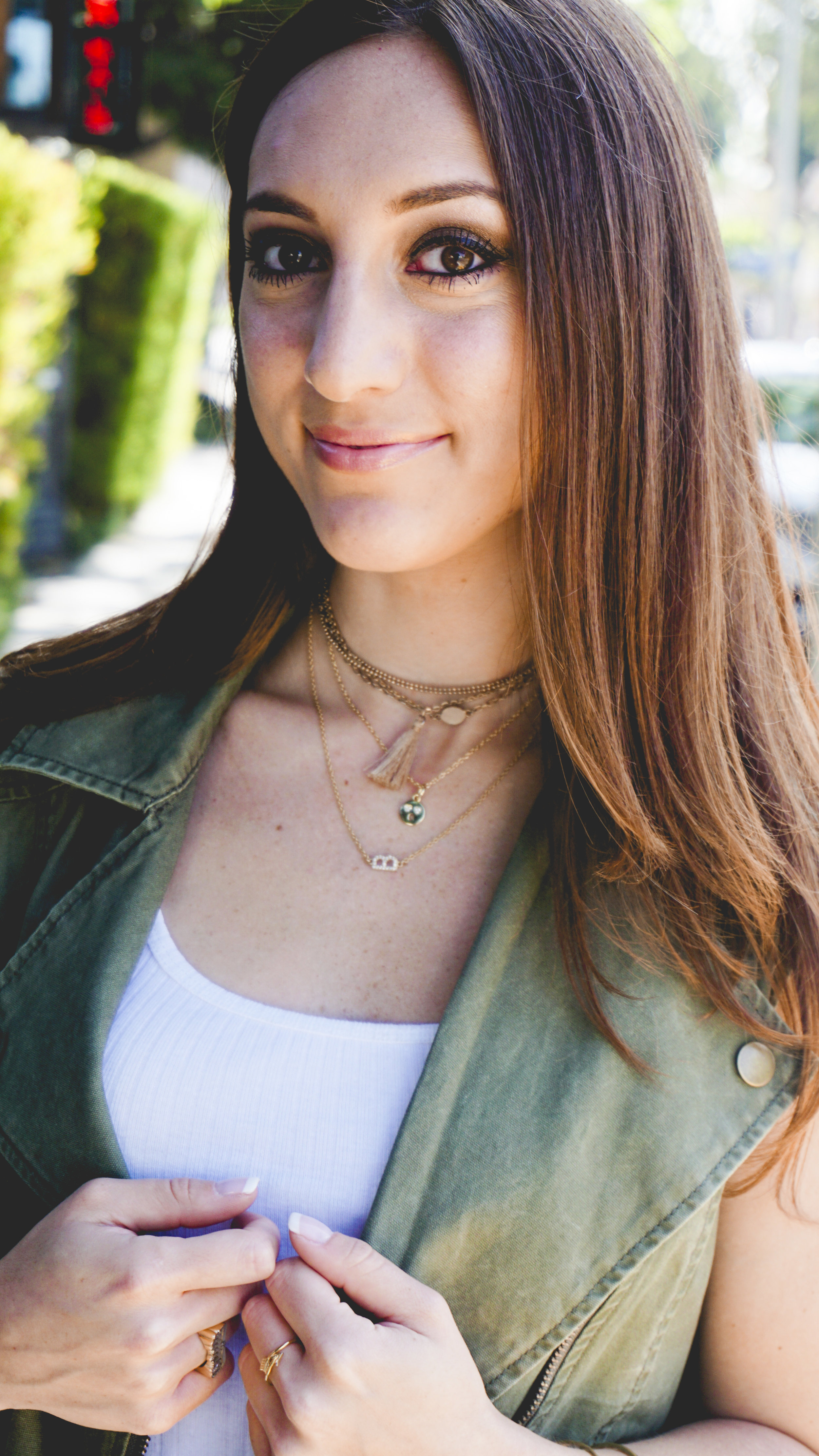 Brielle Galekovic of The Gilded Bellini wearing Twin Stars Jewelry