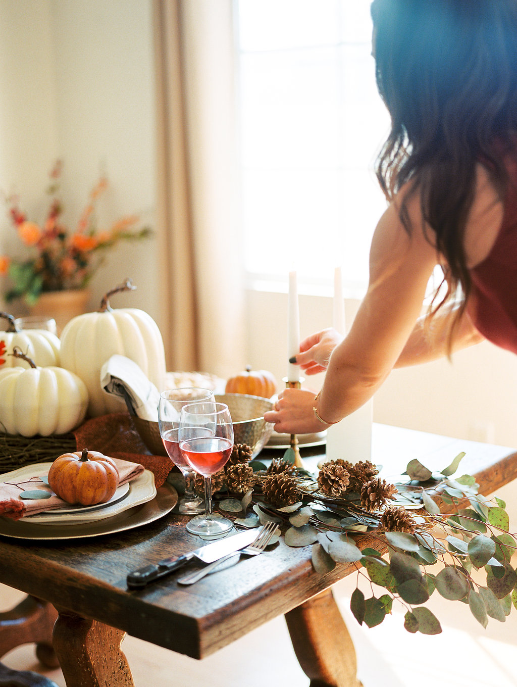 Thanksgiving table with The Gilded Bellini